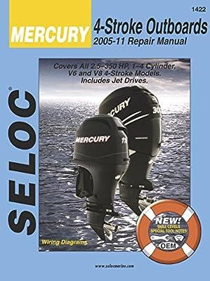 Sierra 18-01422 Mercury 4-Stroke Outboard Repair Manual (2005-2011)