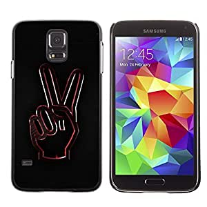 GagaDesign Phone Accessories: Hard Case Cover for Samsung Galaxy S5 - Peace Hand Sign