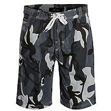 APTRO Men's Quick Dry Board Shorts Camouflage Printed Swimwear