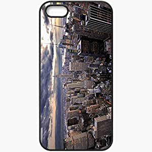 Protective Case Back Cover For iPhone 5 5S Case Form Nice Picture Wallpaper Black
