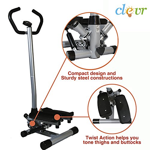 Clevr Twister Stepper w/ Handle Bar Step Machine Cardio Training Stair Climber