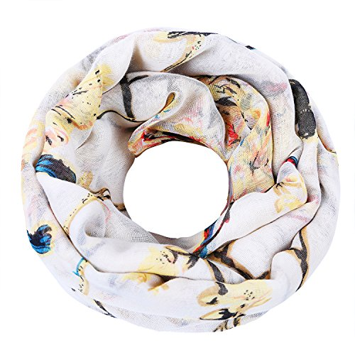 ZQY Women's Floral Birds Print Long Scarf Soft Shawl Wearable All Year Round (Soft Scarf Floral)