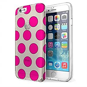 Bright Polka Dots - iPhone 6 Clear EZ Grip Rubber Cover Case