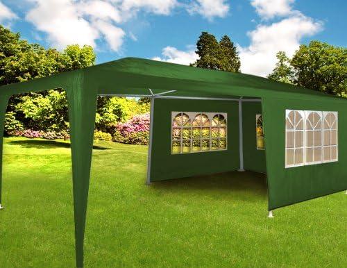 Carpa pabellón 3x6 con laterales. Desmontable. Económica. Color verde: Amazon.es: Jardín