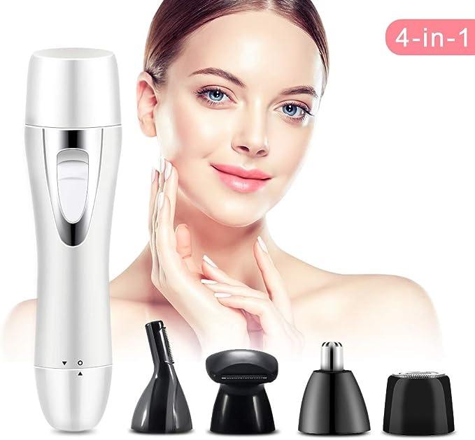 Depiladora Mujer Facial, Afeitadora Eléctrica Lady 4 en 1 con ...