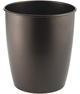 Wonderful MDesign Metal Wastebasket Trash Can For Bathroom, Office, Kitchen   Bronze