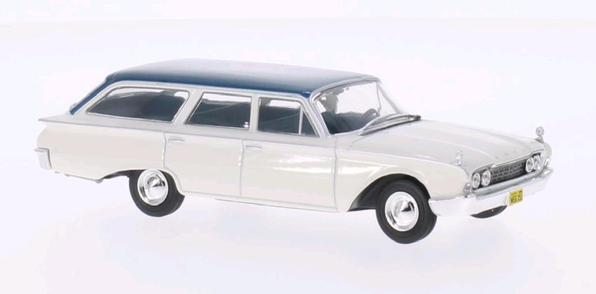 weiss//metallic-türkis 1:43 Whitebox />/>SALE OUT PRICE/</< Ford Ranch Wagon 1960