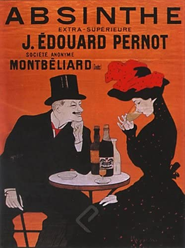 POSTER ABSINTHE J EDOUARD PERNOT ALCOHOL FRENCH DRINK VINTAGE REPRO FREE S//H
