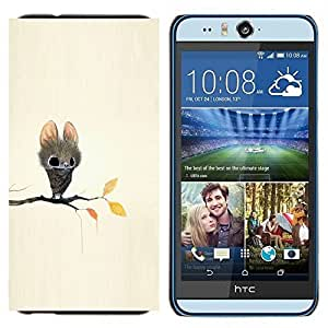 TECHCASE---Cubierta de la caja de protección para la piel dura ** HTC Desire Eye ( M910x ) ** --Bate de dibujos animados del cuento de hadas lindos ojos grandes Animal
