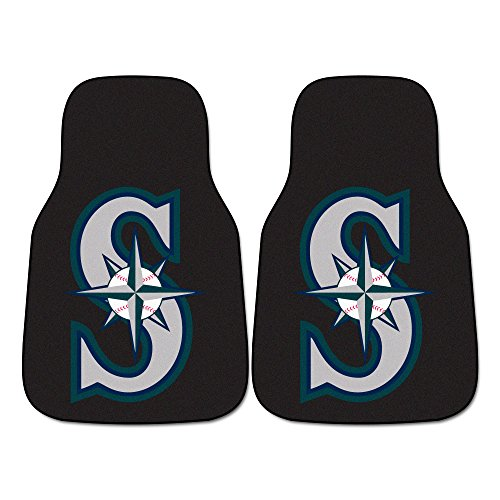 (FANMATS MLB Seattle Mariners Nylon Face Carpet Car Mat)