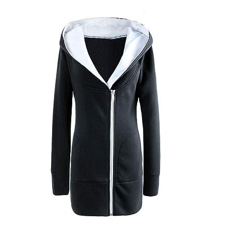 RETUROM Abrigo Mujer Invierno Talla Grande Chaqueta Suéter Jersey Mujer Cardigan Mujer Casual Sudadera con Capucha