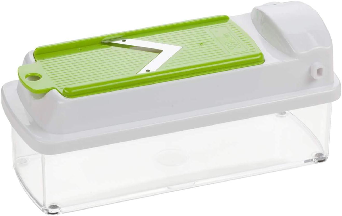 Mandoline 16 en 1 Multifunction Professionelle couper- // r/âp/é- // /éplucher- // cubes- // quartier- // spirales- // manger- // l/égumes Trancheuse slicer Genius Nicer Dicer Smart Julietti cuisine