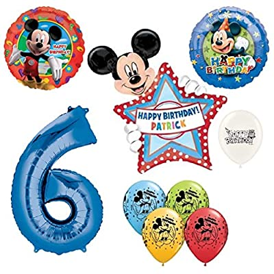 The Ultimate Personalized Mickey Mouse 6th Birthday Party Event Bouquet of Balloons: Toys & Games