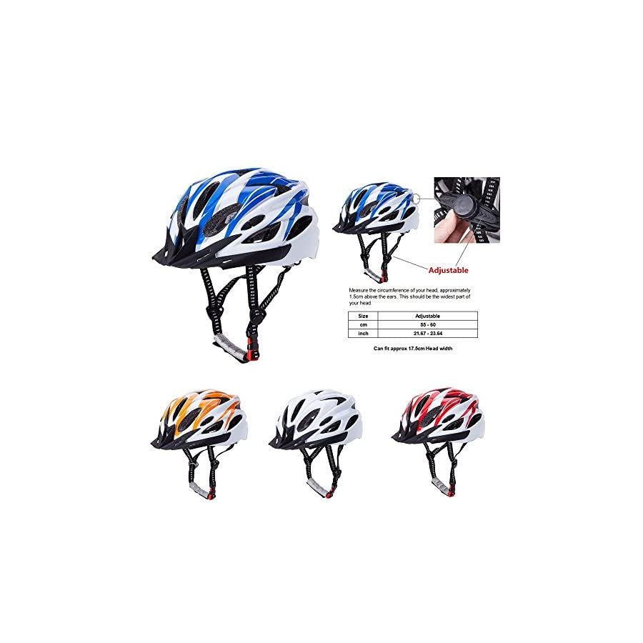 CCTRO Adult Cycling Bike Helmet, Eco Friendly Adjustable Trinity Men Women Mountain Bicycle Road Bike Helmet Safety Protection