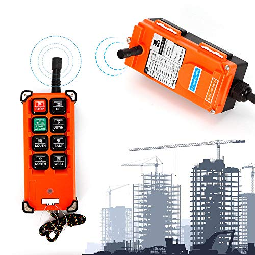 DONNGYZ Transmitter&Receiver Hoist Crane Radio Wireless Industrial Remote Control 12/24V (24V)