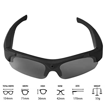 40b58a4b891 Teepao Sunglasses Camera Full HD 1080P Wide Angle Mini Video Recording  Glasses UV400 Protection Polarized Sunglasses