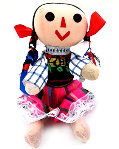 7' Small Traditional Mexican Rag Doll Mexico Dress Collectible Assorted Colors from Unbranded