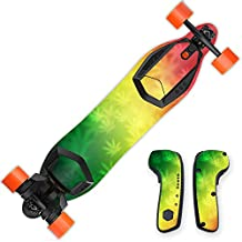 MightySkins Protective Vinyl Skin Decal for Boosted Board wrap cover sticker skins Rasta Rainbow