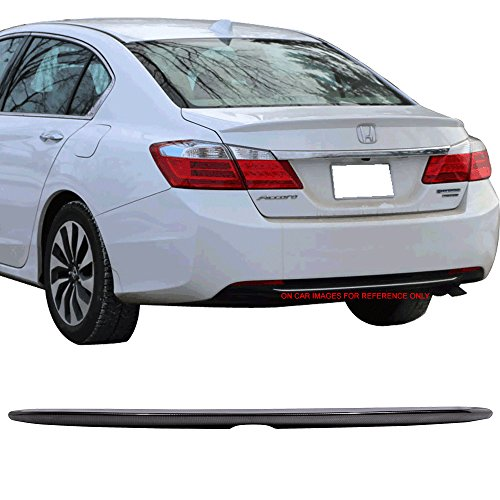 Trunk Spoiler Fits 2013-2016 Honda Accord| Carbon Fiber Look Factory Style Rear Spoiler Wing by IKON MOTORSPORTS | 2014 2015