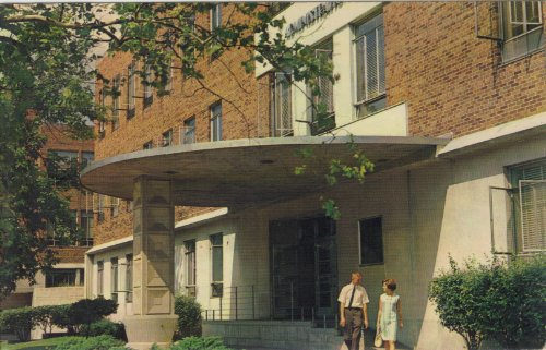 Administration Bldg. Indiana State College Post Card 60's