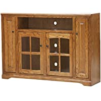 Eagle Oak Ridge Tall Bookcase Entertainment Console, 60 Wide, Dark Oak Finish