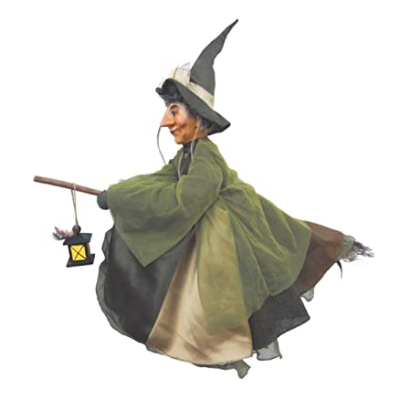 Witches of Pendle – Agatha Witch Flying Green 50cm