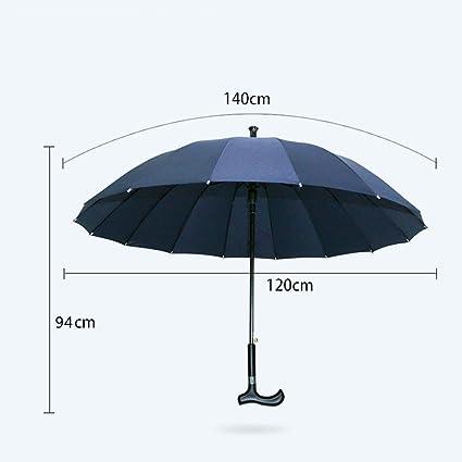 YHEGV Bastón para Caminar Paraguas Individual Doble Lluvia y ...