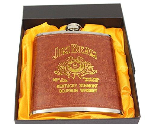 Jim Beam 18oz Luxury Leather Flask