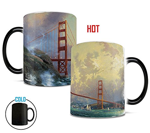 Morphing Mugs Thomas Kinkade San Francisco Golden Gate Bridge (California USA) Heat Reveal Ceramic Coffee Mug - 11 Ounces (San Mugs Francisco)