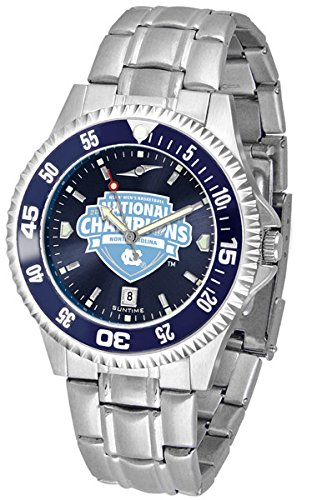 North Carolina 2017 NCAA Division I Men s Basketball Champions Competitor Steel AnoChrome Color Bezel (Team Color Competitor Watch)