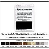 BLACK Hair Fiber Refill kit By Samson Large 25 Grams Made in USA Hair Loss Concealer