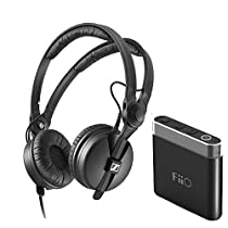 Sennheiser HD 25 Monitor Headphones + FiiO A1 Portable Headphone Amp (Black)