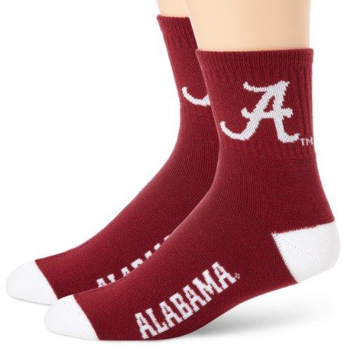 Alabama Crimson Tide Team Color Quarter Socks
