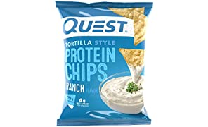 Quest Nutrition Protein Tortilla Chips, Ranch, 8 Count