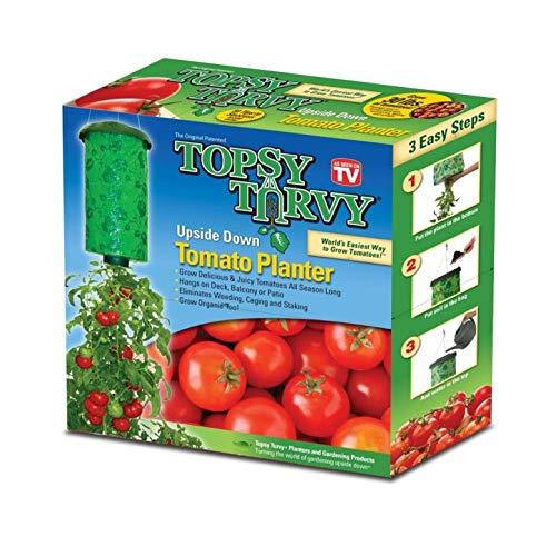 Topsy Turvy Upside-Down Tomato Planter,Green,10Wx10Hx4D ()