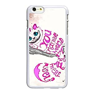 Alicia en caso Cita Imprimir pufunda LGadas del gato de Cheshire F9F88I0CF funda iPhone 6 6S 4,7 funda 2IBM5B blanco