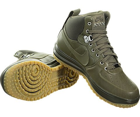 Nike Lunar Force 1 SneakerBoots (Kids) Green by Nike (Image #2)