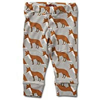 Milkbarn Organic Cotton Baby Leggings (3-6 Months, Orange Fox)
