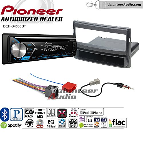 Xm Pioneer Aux Input - Volunteer Audio Pioneer DEH-S4000BT Double Din Radio Install Kit with Bluetooth, CD Player, USB/AUX Fits 2007-2010 Hyundai Elantra (Internal XM)