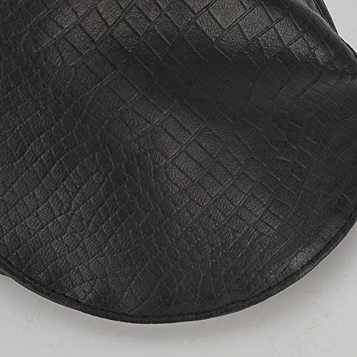 野球帽 キャスケット メンズ ハット ゴルフ 革 調整可能 日よけ 防風 ハンチング LWQJP (Color : ブラック, Size : One Size)