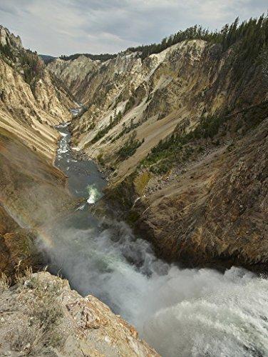 Yellowstone National Park, Wyoming Photo - The Lower Falls cascade into the Yellowtone River Valley in Yellowstone National Park in northwestern Wyoming. - Carol Highsmith