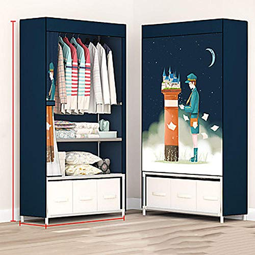 qiumeixia1 Stainless Steel/Non-Woven/PP Rectangle Adorable Home Organization, 1 Set Hangers/Storage Units/Storage Cabinets@Dark Blue
