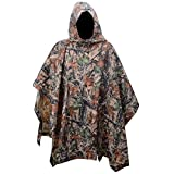 XTACER Multiuse Rain Poncho XL Raincoat Sheet Poncho Camo