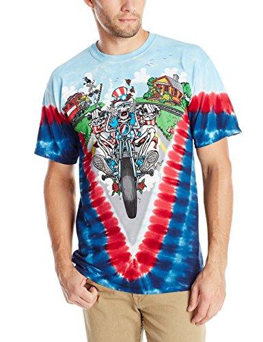 Liquid Blue Men's Grateful Dead-Moto Sam T-Shirt, Tie Dye, Large ()