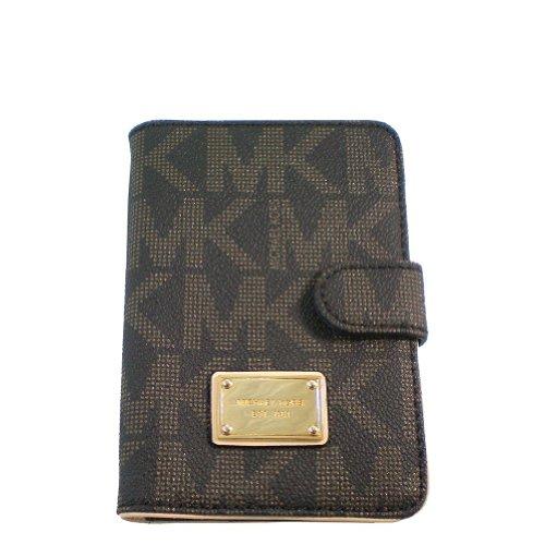 MICHAEL Michael Kors Signature PVC Passport Case Brown