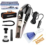 Reserwa Car Vacuum 12V 106W Wet&Dry Car Vacuum Cleaner Portable Car Handheld Vacuum 16.4FT(5M) Power Cord with 2 HEPA Filters and One Carry Bag and One Cleaning Brush(Black) [5th Gen]