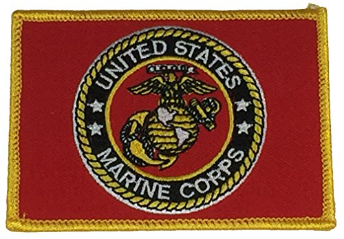(UNITED STATES MARINE CORPS FLAG PATCH - COLOR - Veteran Owned Business)