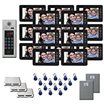 Multitenant Video Intercom 15 7 color monitor door panel kit