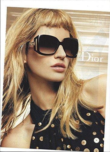 MAGAZINE PAPER ADVERTISEMENT With Gisele Bundchen For 2009 Dior - Sunglasses Bundchen Gisele