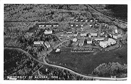 Alaska Aerial Photo - Alaska University 1956 Aerial View Real Photo Vintage Postcard JA4741230
